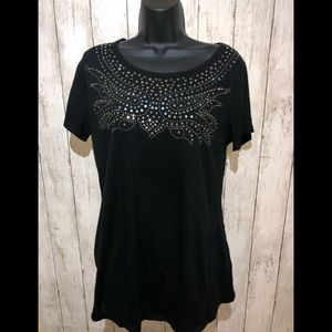 3/$25 H&M Mama Embellished Maternity S/S Top L